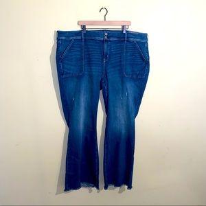 NWT TORRID distressed bootcut jeans 28L